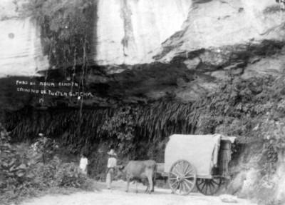 """""""Paso de Agua Bendita, camino de Tuxtla Gutiérrez, Chis."""", tarjeta postal"""