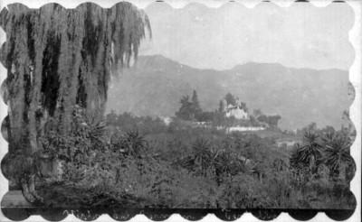 """Vista de un poblado sobre el """"camino a Teziutlán"""""""