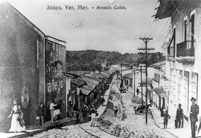 """Vista de la """"avenida Colón"""" en """"Jalapa"""""""