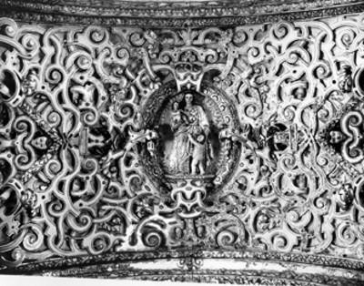 Imagen de la Virgen de la Eucaristía, detalle