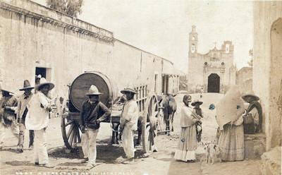 """Vida cotidiana en Ixtacalco, """"6449. A street scene in Ixtacalco"""""""