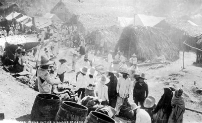 "Vida cotidiana en El Abra, ""6239. Scene in the village of Abra"""