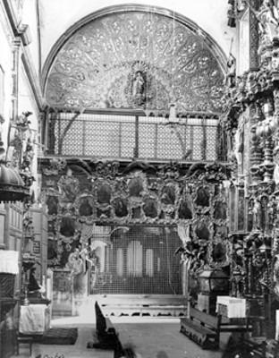 Interior de la iglesia de Santa Rosa, vista parcial