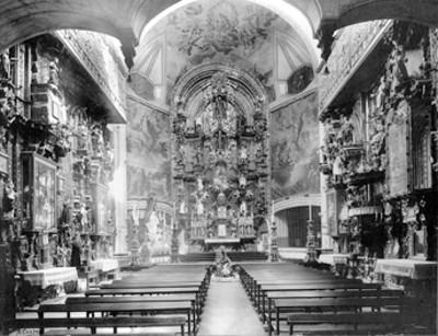 Interior iglesia de la Enseñanza, en la delegación Cuauhtémoc