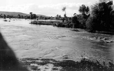 Inundación en Jaral del Río, aspecto