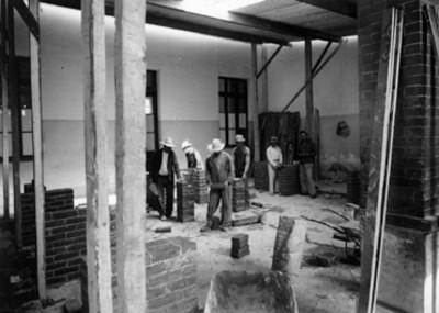 Construcción de la cocina provisional