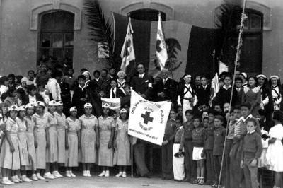 Personal de la cruz roja de la juventud mexicana, retrato