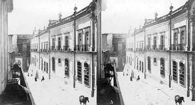 Casa de la Moneda en Zacatecas, exterior, estereoscópica