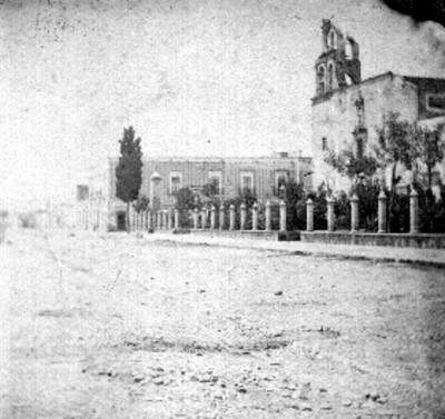 Jardín de San diego e iglesia de Aguascalientes, panorámica