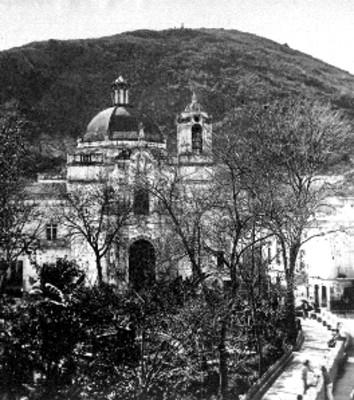 Iglesia de San Diego, jardín y fachada
