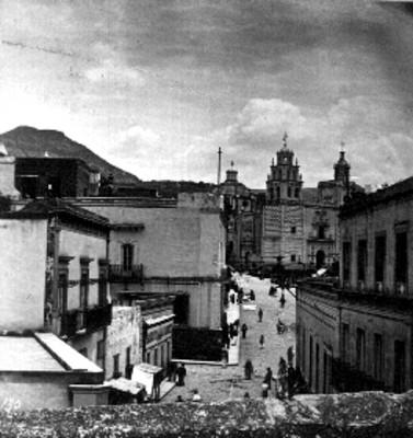 """""""Plaza principal [de] Guanajuato"""", estereoscópica"""