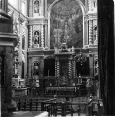 """""""Interior de la Catedral de Puebla"""", Altar de los Reyes, estereoscópica"""