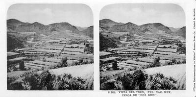 "Vista del tren cerca de ""Dos rios"""