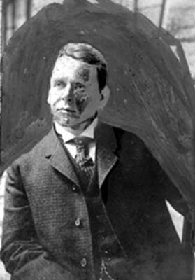 Hombre con traje, retrato
