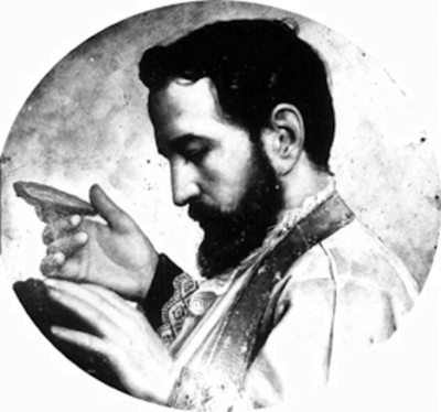 San Pedro Llañes, retrato al óleo
