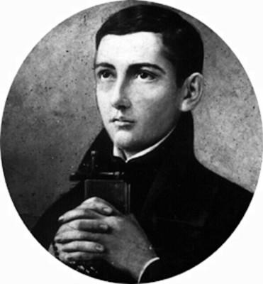 San Juan Berchmans, retrato al óleo