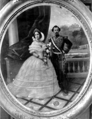 Miguel Miramón y esposa, pintura al óleo