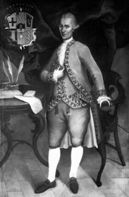 Domingo de Rábago, conde, retrato al óleo