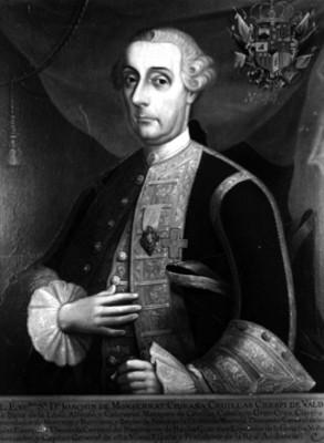 Joaquín de Monserrat, retrato de óleo