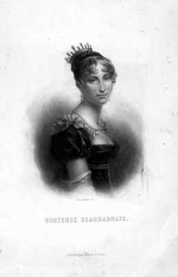 Hortense Beauharnais, retrato dibujando