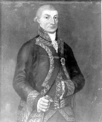 José de Iturrigaray, virrey de la Nueva España, retrato al óleo, reproducción