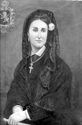 Carlota, retrato al óleo