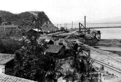 Estación del ferrocarril en el puerto de Manzanillo