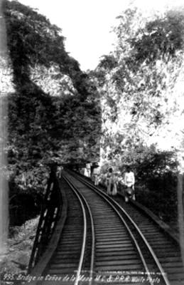 """Puente en el cañon de la Mano, """"Bridge in Cañon de la Mano"""""""