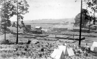 Vías de ferrocarril de la ruta México-Cuernavaca-Pacífico, vista