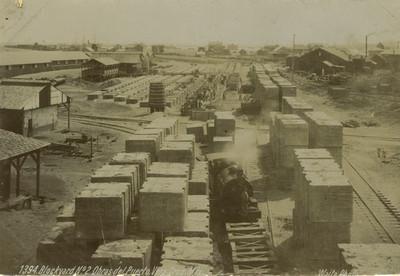 Hombres trabajan en obras del Puerto de Veracruz