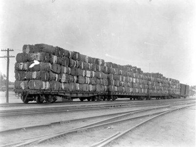 Salida de algodón de Mexicali, Baja California a los Ángeles, California
