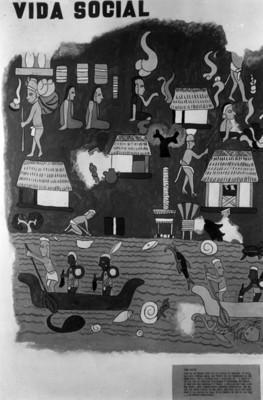 Vida social entre los mayas, pintura
