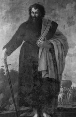 San Pablo, pintura de Baltazar de Echave, detalle