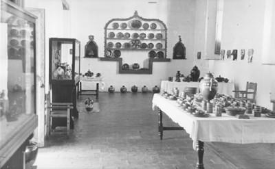 Vista de una sala de exhibición del museo de Páztcuaro