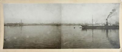Puerto marítimo, paisaje