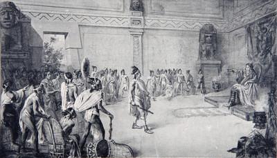 Litografía de la Corte Mexica