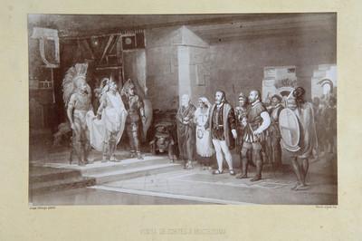 """""""Visita Cortés a Moctezuma"""", reprografia"""