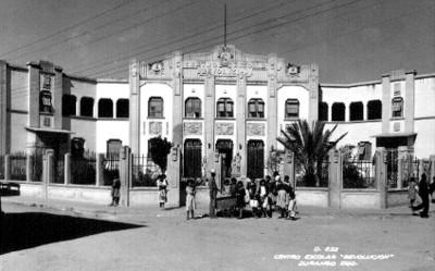 """""""Centro Escolar Revolución"""", fachada, tarjeta postal"""