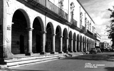 """Palacio de Gobierno [en] Durango"", exterior, vista lateral"