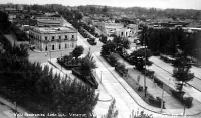"""""""Vista panorámica, Lado Sur, Veracruz, Ver."""", tarjeta postal"""