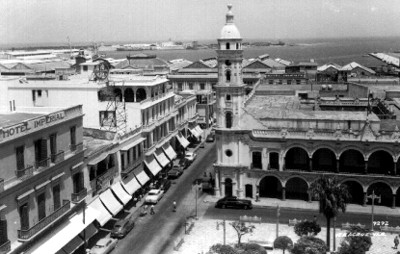 """Veracruz"", panorámica, tarjeta postal"