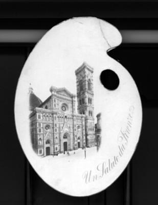 Tarjeta con la imagen de la catedral de Santa María del Fiore