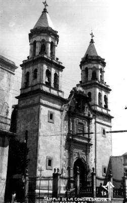 """Templo de la Congregación"", fachada"