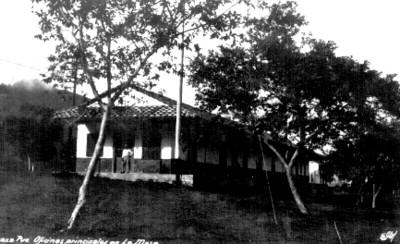 Oficinas principales en la Mesa o Nuevo Necaxa, vista general