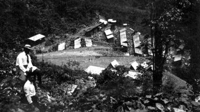 """""""Campamento"""" de obreros en """"Tenanguillo"""", panorámica"""