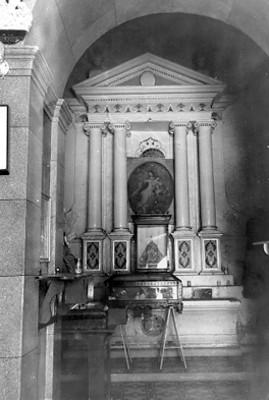 Vista de un altar dedicado a Nuestra Señora de las Mercedes