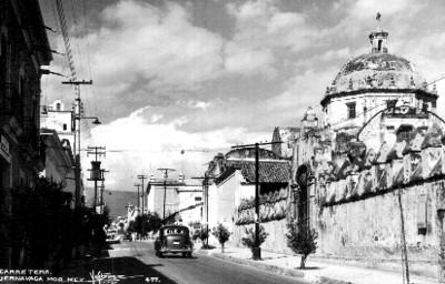 Vista parcial de la Catedral de Cuernavaca