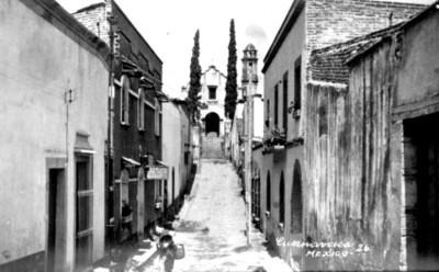 Iglesia de Tepetates, vista parcial, tarjeta postal