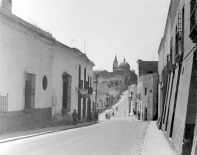 Calle en Cuernavaca, vista parcial