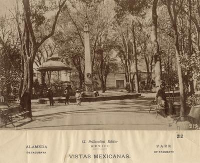 Alameda de Tacubaya. Vistas Mexicanas. Park of Tacubaya